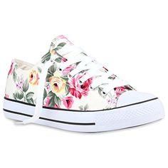 DAMEN SCHUHE 106307 SNEAKERS WEISS WEISS FLOWER 36 - http://on-line-kaufen.de/stiefelparadies/36-eu-stiefelparadies-damen-schuhe-sneakers-low-32