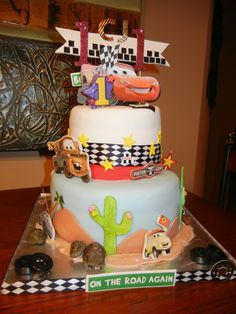 Cake Art Instant Mix Modelling Paste : Disney Pixar Cars Mater Tow Truck Cake side T411 ...