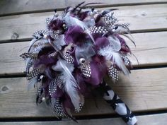 Feather Bouquet (great alternative to expensive flower arrangements and can be easily displayed after!)