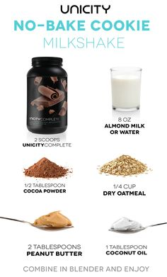 No Bake Cookie Protein Milkshake Diy Protein Shake, Protein Milkshake, Protein Shake Recipes, Milkshake Recipes, Low Carb Recipes, Diet Recipes, Protein Powder Shakes, Vegan Protein Powder, Protein Shakes