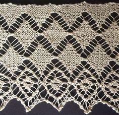 Diamond lace knit edging