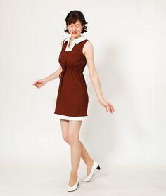 60s MOD Dress - 1960s Dress - Chocolate Kiss