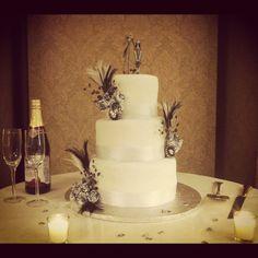 Nightmare Before Christmas wedding cake I made this week.