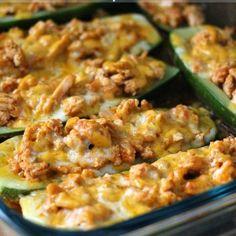 Zucchini Boat Turkey Tacos