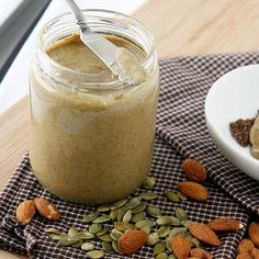 How to Make Pumpkin Seed Butter ---- It's pumpkin season so don't miss out on this awesome, healthy, and tasty use for all those seeds you get when carving your pumpkins.