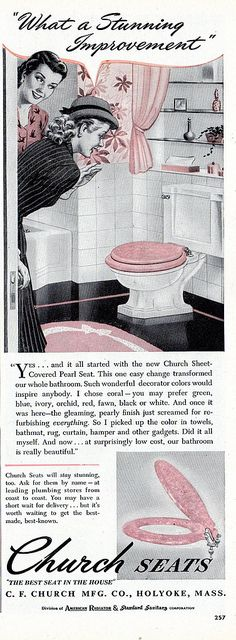 Church Seats vintage ad