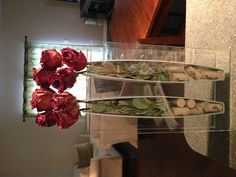 Simple arrangement of dried roses!