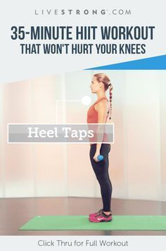 This HIIT Workout That's Gentle on Achy Knees Bad knees? This is the workout for you! This is the workout for you! Leg Workout At Home, At Home Workouts, Morning Workouts, Extreme Workouts, Cardio Workouts, Body Workouts, Tabata, Fitness Tips, Health Fitness