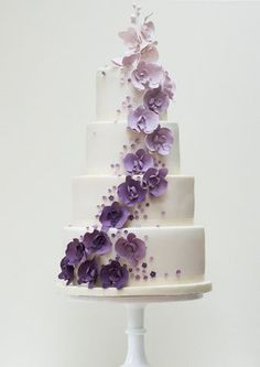Purple Orchids: Wedding Cake by Rosalind Miller Cakes