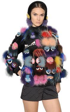 Monsters Patchwork Fur Jacket