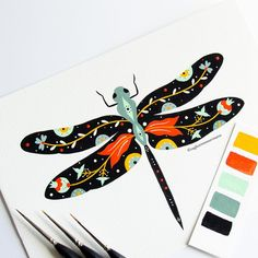 thoughts for friends / thoughts for friends - thoughts for friendship - thoughts for friends bff - thoughts for friends in hindi Vogel Illustration, Dragonfly Illustration, Arte Sketchbook, Ecole Art, Insect Art, My Animal, Illustrations, Art Inspo, Painting & Drawing