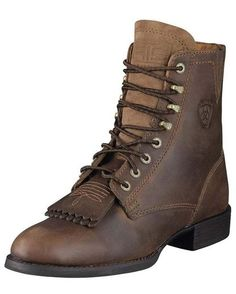 Women's Heritage Lacer II - Distressed Brown - had a pair of their lace-up  · Cowboy Boots ...