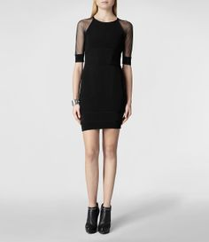 Womens Lana Dress (Black) | ALLSAINTS.com