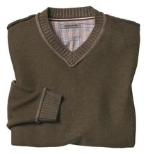 Plaited V-Neck Sweater - Johnston & Murphy