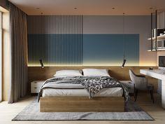 Indian Bedroom Design, Bedroom Bed Design, Kids Bedroom, Master Bedrooms, Flat Interior, Interior Concept, Black And White Interior, Bedroom Apartment, Bedroom Interiors