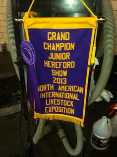 Congratulations to Melissa Grimmel!! A local Harford County girl wins at a National Show!! She won Grand Champion Hereford Heifer in the Junior Show at NALIE in Lousisville, KY!!! Great Work Grimmel Family!