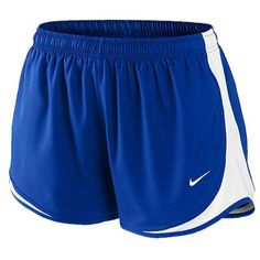 "Nike Womens 3 Inch Running Shorts (L, Royal Blue). Designed for competition, the Nike Team Race Shorts won't let you down when the win is on the line. Dri-FIT liner wicks away sweat to keep you feeling dry, fresh, and focused. Contrast color down the side and embroidered Swoosh design trademark at lower left hem provide standout style. Dri-FIT 100% polyester. 3"" inseam. Imported."