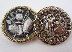 antique buttons - King Arthur's Court.