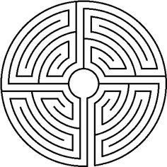 The Roman labyrinth is in four quadrants corresponding to four identical labyrinths visited in sequence. The number of lanes varies. It existst in round and square versions