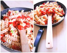 Summer pasta salad with cherries tomatoes, capers, garlic and... panko!