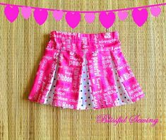 Girl's Skirt Sewing Pattern, Toddler Skirt Pattern, Box Pleated Skirt for 12 Months to 10 Years.