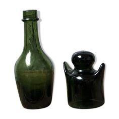 M8.2 Maison de poupées en verre vert bouchon bouteille