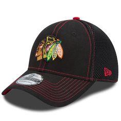 Chicago Blackhawks New Era NHL Crux Line Neo 39THIRTY Flex Hat - Black