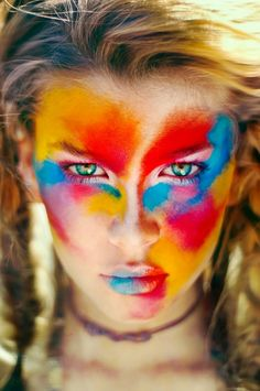 Be a graffiti girl this Halloween by dousing your face in gorgeous pigments