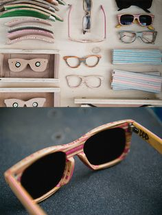 Sunglasses from recycled skateboards!