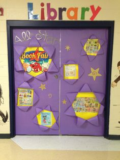 Library doors for the book fair!