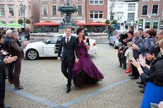 paarse trouwjurk / purple wedding dress