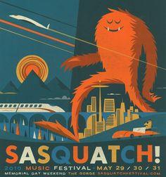 Sasquatch! Festival logo - Google Search