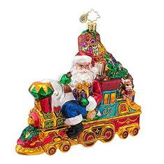 Christopher Radko All Aboard for Christmas Ornament >>> Read more reviews of the product by visiting the link on the image. (This is an affiliate link) #Ornaments