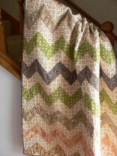 Simple zig zag pattern made perfect with the soft colors!