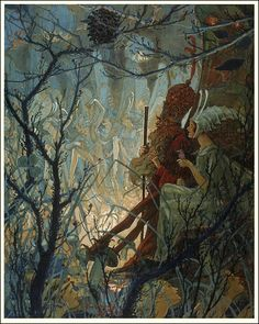 Peter and the Princess Lighted by glow-worms, fairies were dancing by John R. Neill, 1920