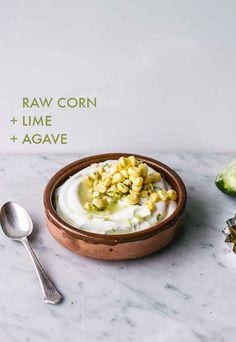 Corn + lime + agave Yogurt Topping Combos