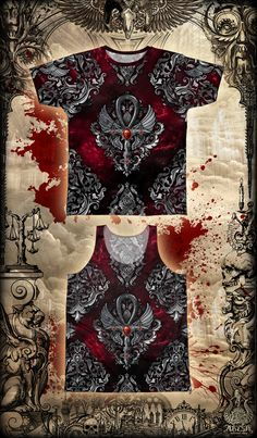 Gothic Ankh cross. Sublimated t-shirt for men, women and unisex tanks.  #etsy #etsyshop #etsyseller #etsyfinds #darketsy #giftideas #darkart #fashionbloggers #gothic #skull #gothiccross #gothicankh #ankh #tshirtdesign #tshirt