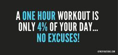 Being busy is not an excuse.