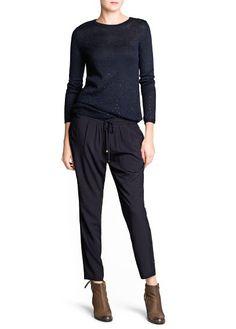 Rhinestone wool-blend sweater