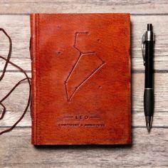 Leo Zodiac Handmade Leather Journal
