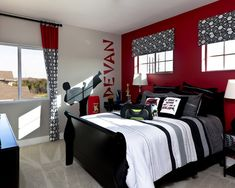 Black And White And Red Bedroom grey black and maroon bedroom | bedroom design ideas, pictures
