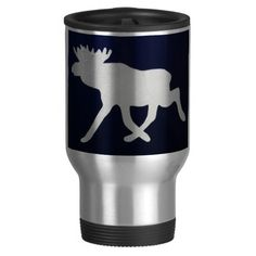 Big moose travel mug