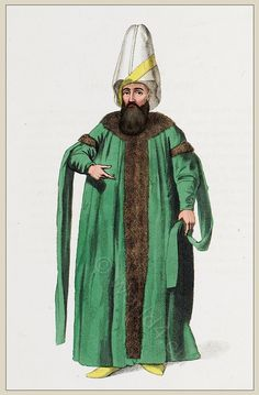 Kapudan Paşa costume.Turkish Navy. Ottoman empire historical clothing.