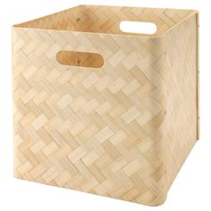 "IKEA - BULLIG, Box, 12 ½x13 ¾x12 ½ "", , A clever storage solution that helps you keep everything from magazines to clothes close at hand.You can also use the boxes in areas like the bathroom, as they are resistant to moisture.The felt pads underneath protect the surface below against scratches.Easy to lift and carry thanks to the handles on two sides of the box."