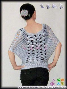 Crochet World added a new photo. Crochet Fall, Crochet World, Knit Crochet, Crochet Tops, Free Crochet, Crochet Bodycon Dresses, Crochet Cardigan, Freeform Crochet, Crochet Stitches