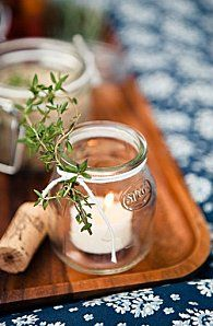 I can't get enough of jam jars and herbs!