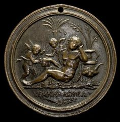 Andrea Briosco Riccio<br /><i>An Allegorical Scene</i>, date unknown<br />Bronze, diameter 632.5 cm (249 in.)<br />National Gallery of Art, Washington, DC, Samuel H. Kress Collection<br />Image courtesy of the Board of Trustees, National Gallery of Art