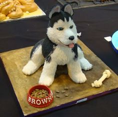 Amazing Siberian Husky Cake!!  From the Cake International show at NEC in the UK!