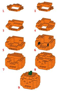 How To Build a 3D Lego Halloween Pumpkin