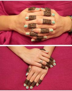 Henna fingers pattern | atouchofluxe
